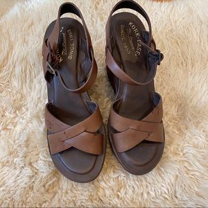 Kork-ease leather wedges